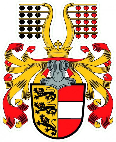 Aufkleber Kärnten Wappen mit Schellenbaum
