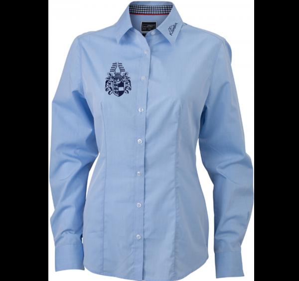 Damen-Bluse mit Karobesatz