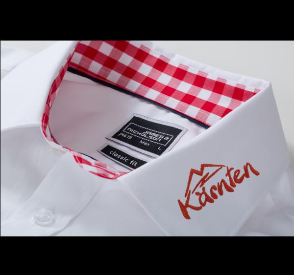 Herren-Hemd mit Karobesatz